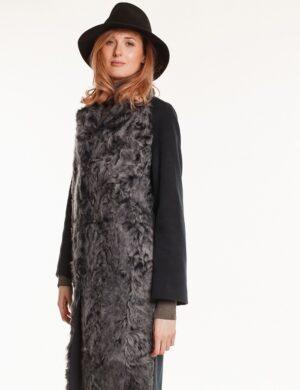 Пальто Antonella - текстиль с мехом