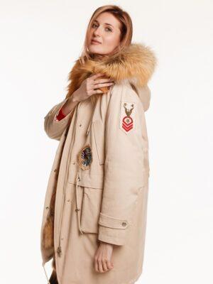 Парка Crystal с мехом лисы