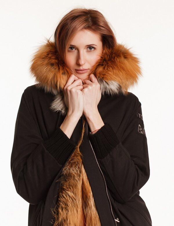 Парка Carardli с мехом лисы